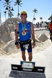 Publix Marathon - Doug sand sculpture
