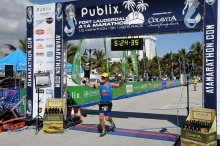Publix Marathon - Doug Finish Line 2